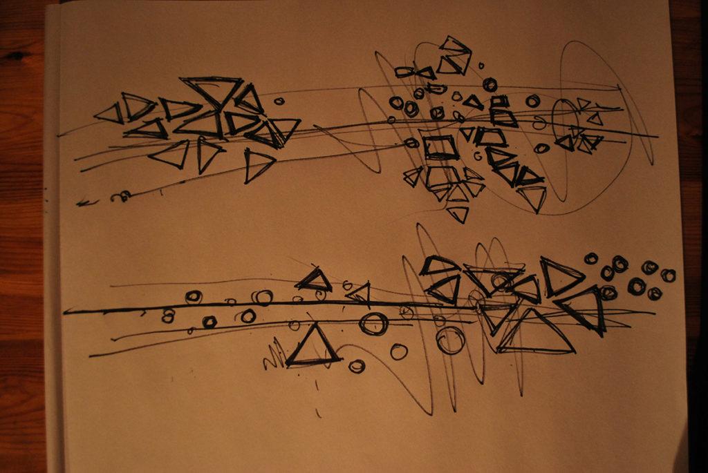 abstract shape development